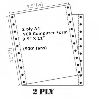 Twin Star A4 NCR Computer Form 2 ply