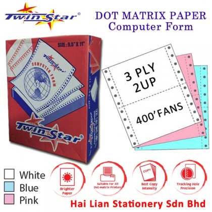 Twin Star A4 NCR Computer Form 3 ply