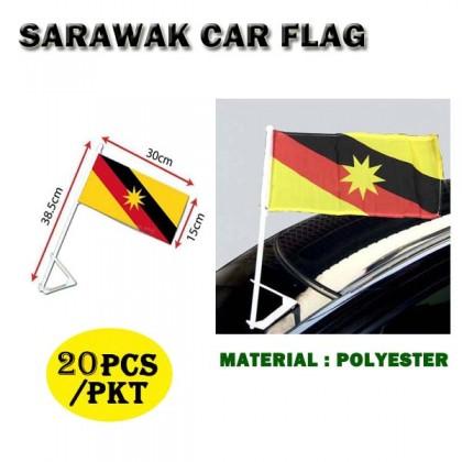 6' X 12' Malaysia / Sarawak Car Flag With Stand