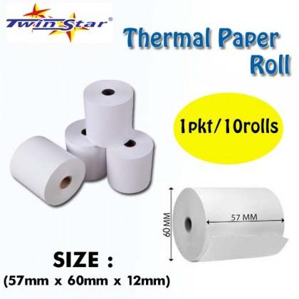 Twin Star Thermal Roll (57mm) 10rolls/PKT