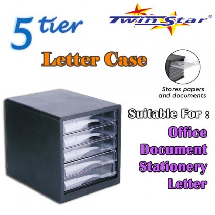 Twin Star Plastic Desk Document Tray / Letter Tray