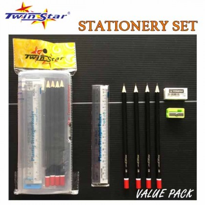 Twin Star Stationery Set Value Pack