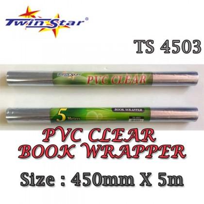 Twin Star PVC Clear Book Wrapper-1 Set [3 rolls]
