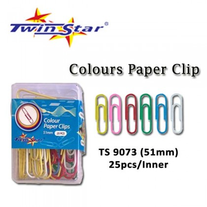 Twin Star Color Paper Clips/Pins/Map Pins