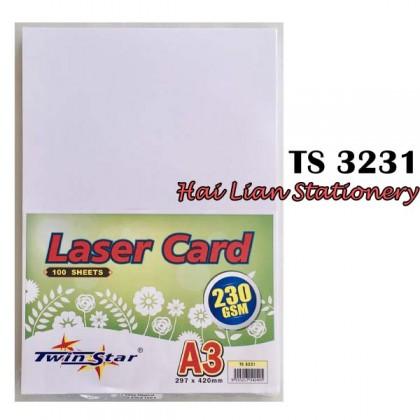 Twin Star A4 /A3 Laser Card White